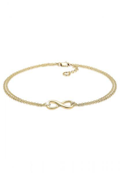 Elli PREMIUM Armband Infinity Unendlichkeit Symbol 375 Gelbgold