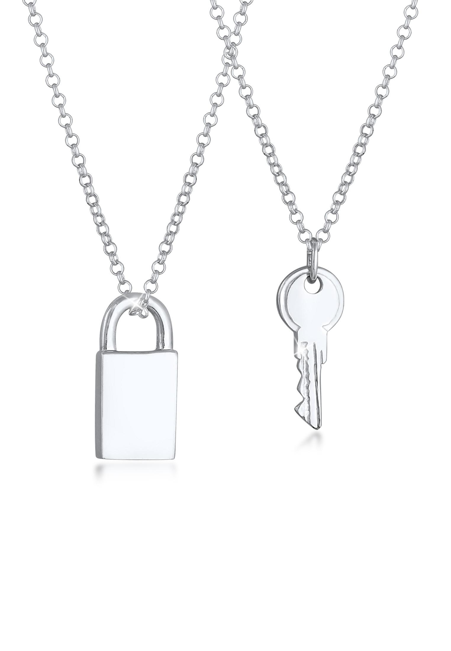 Ketten-Set Schloss & Schlüssel | 925er Sterling Silber