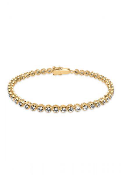 Elli Armband Tennis-Armband Kristalle 925 Silber