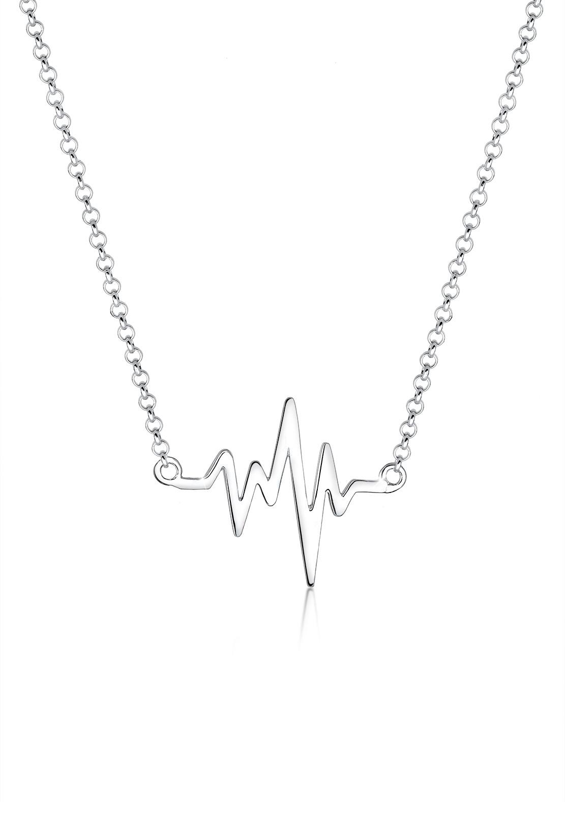 Halskette Herzschlag | 925er Sterling Silber