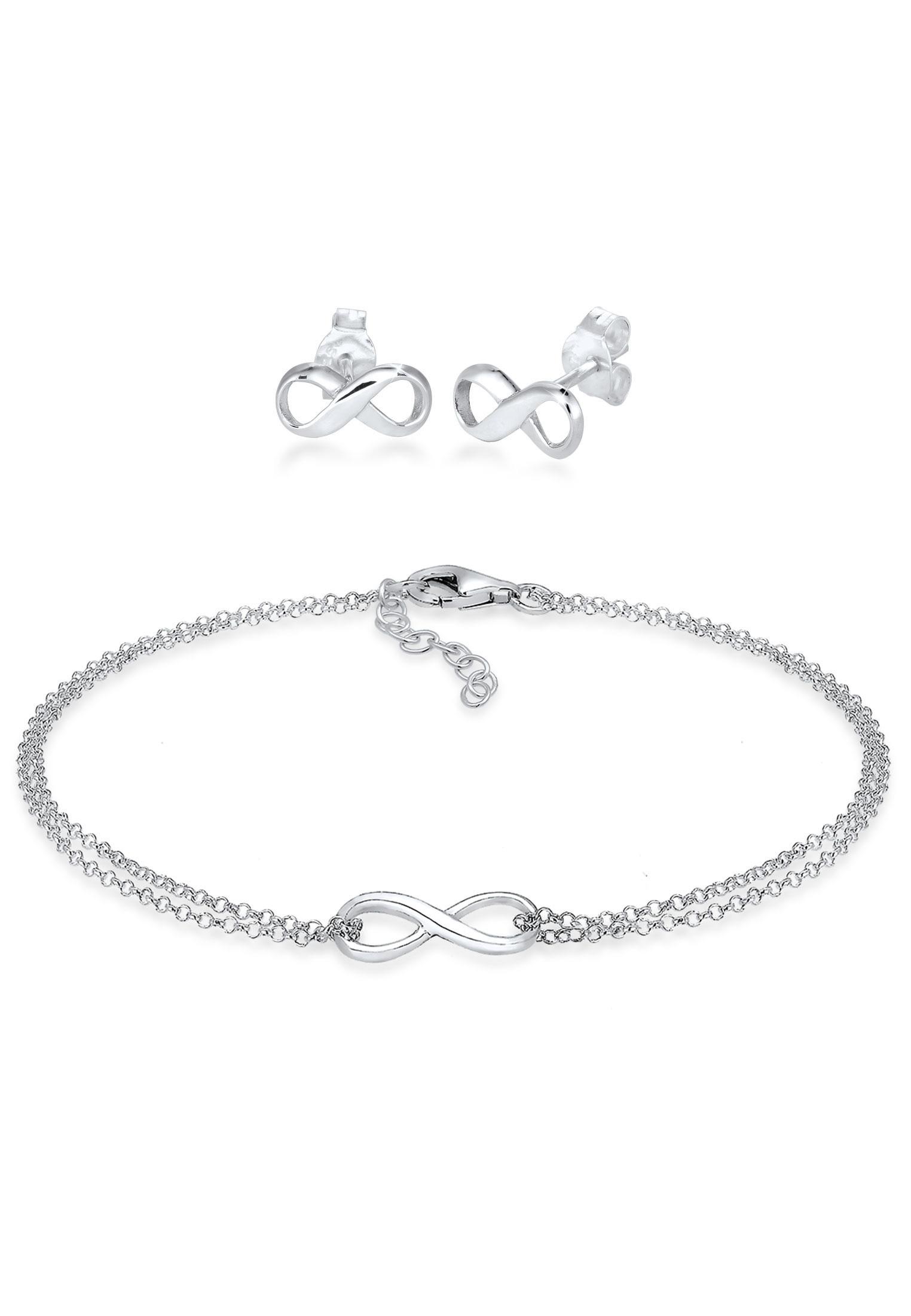 Schmuckset Infinity   925er Sterling Silber
