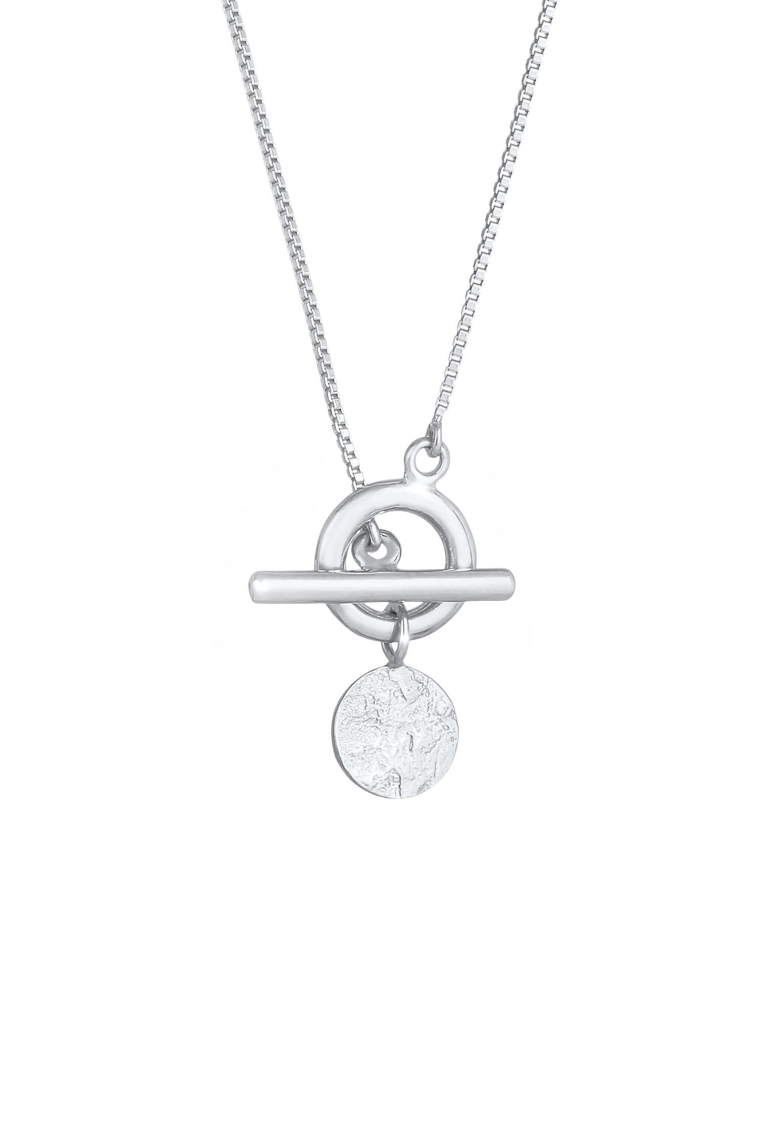 Halskette Plättchen T-Bar   925er Sterling Silber