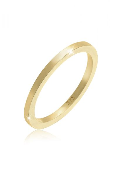 Elli PREMIUM Ring Basic Ehering 375 Gelbgold