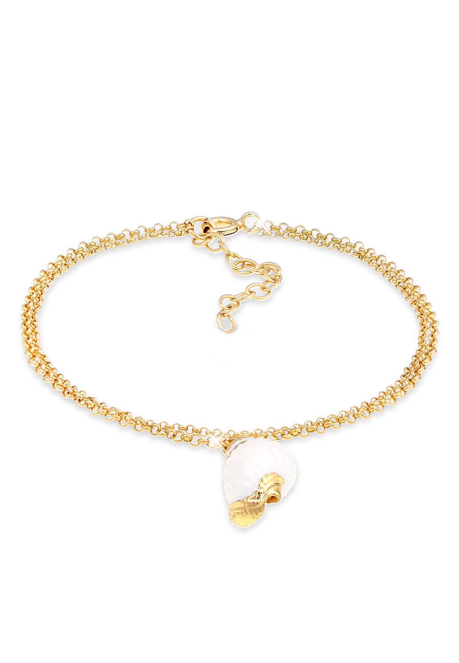 Armband Muschel | 925 Sterling Silber vergoldet