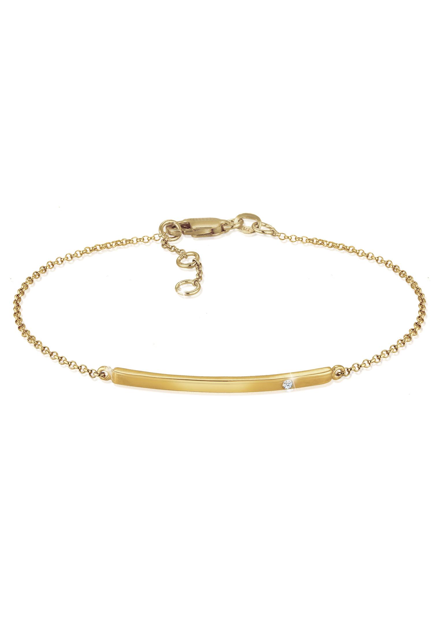 Armband Geo   Diamant ( Weiß, 0,015 ct )   375 Gelbgold