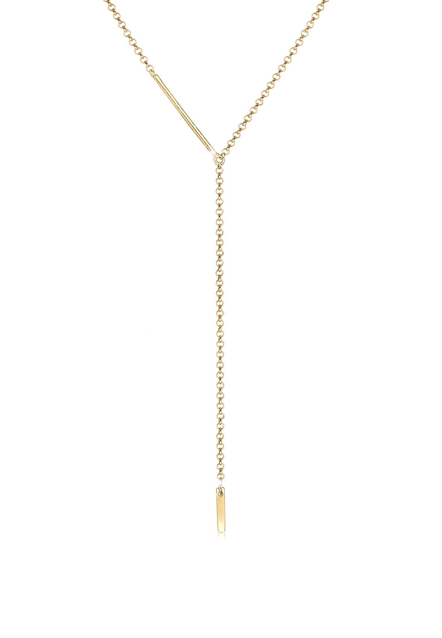 Y-Halskette Geo | 925 Sterling Silber vergoldet