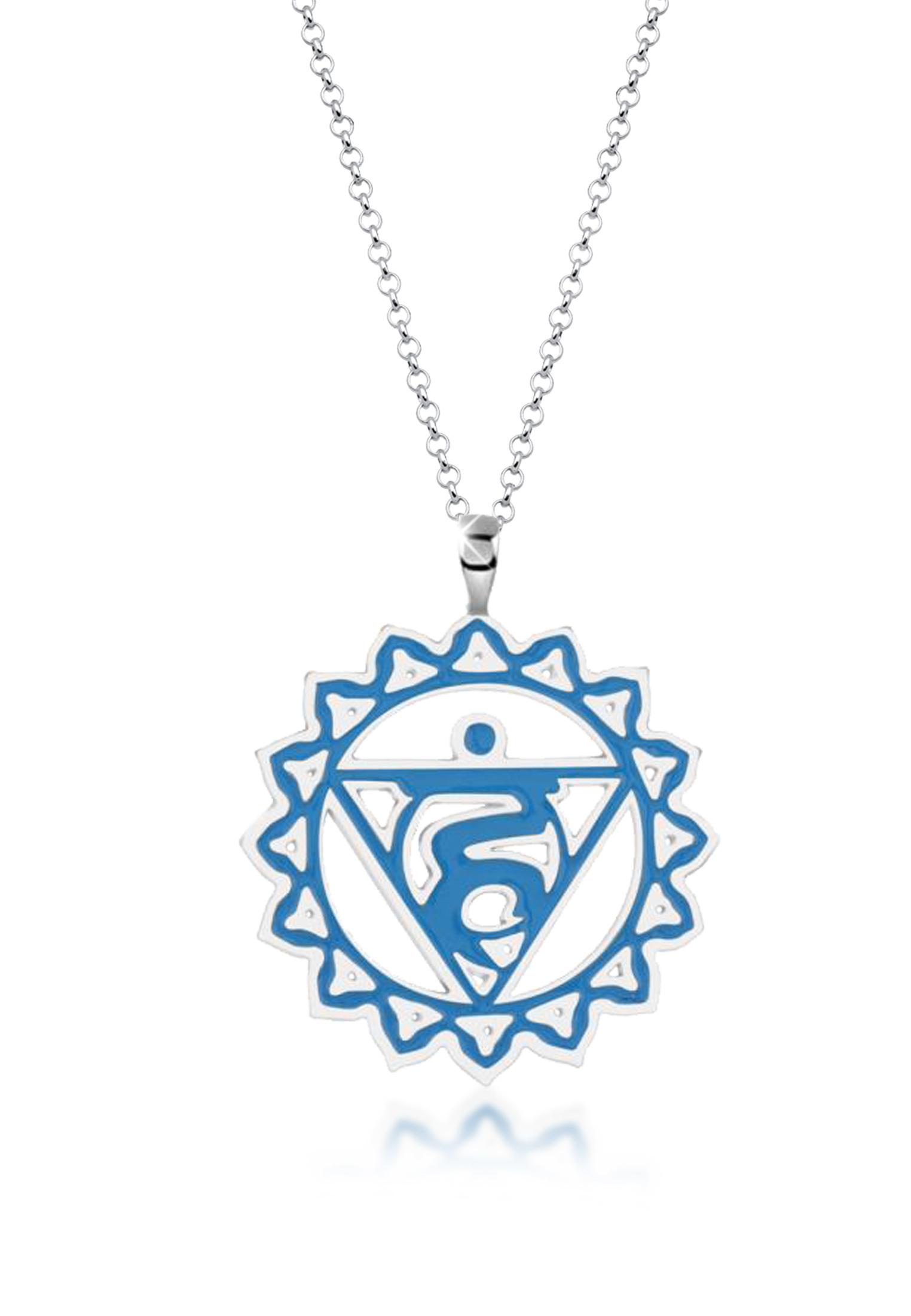 Lange Halskette Chakra   925er Sterling Silber