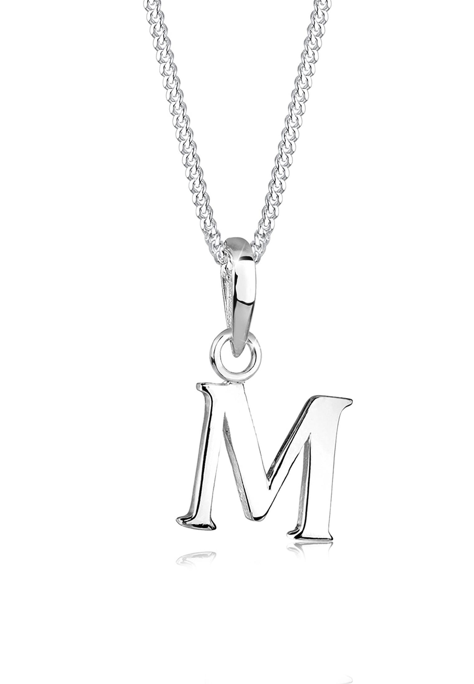 Halskette Buchstabe | 925er Sterling Silber