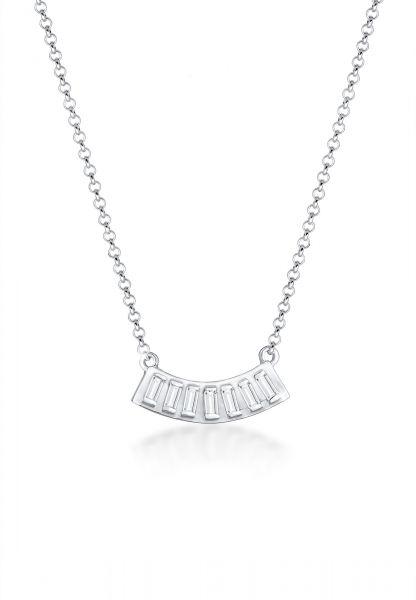 Halskette | Topas ( Weiß ) | 925er Sterling Silber