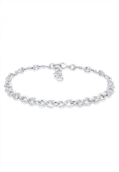 Elli Armband Infinity Kristalle 925 Silber Infinitá
