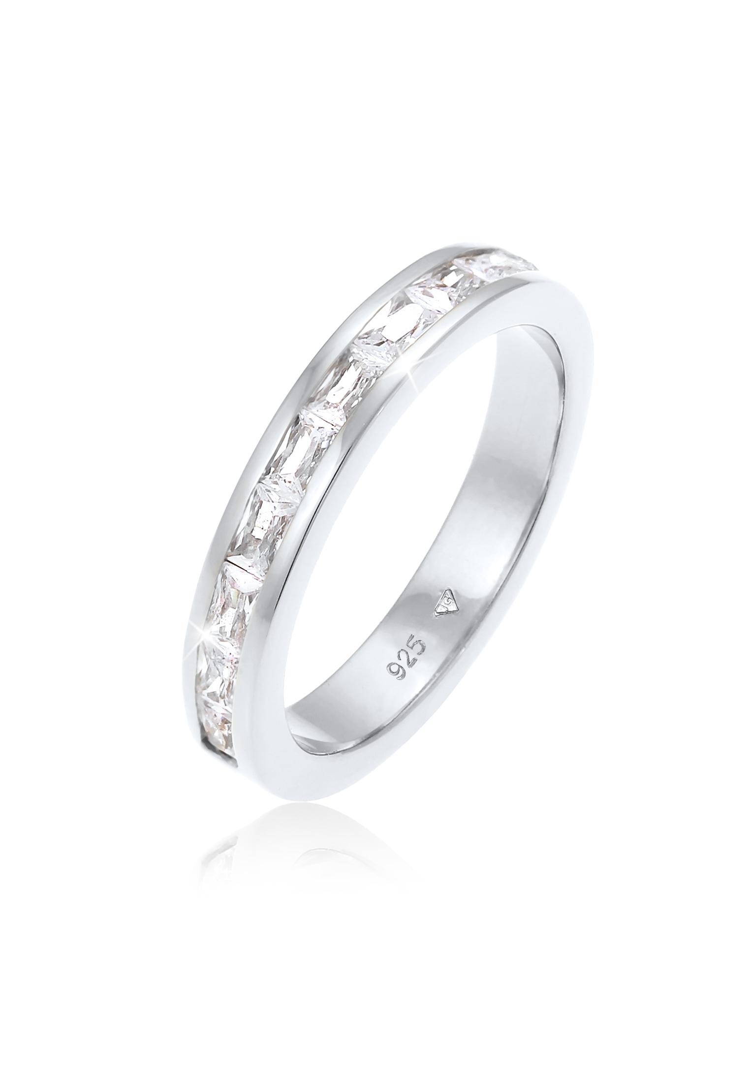 Ring Verlobungsring   Zirkonia ( Weiß )   925er Sterling Silber