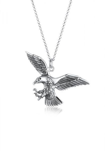 KUZZOI Halskette Adler Greifvogel Cool 925 Sterling Silber