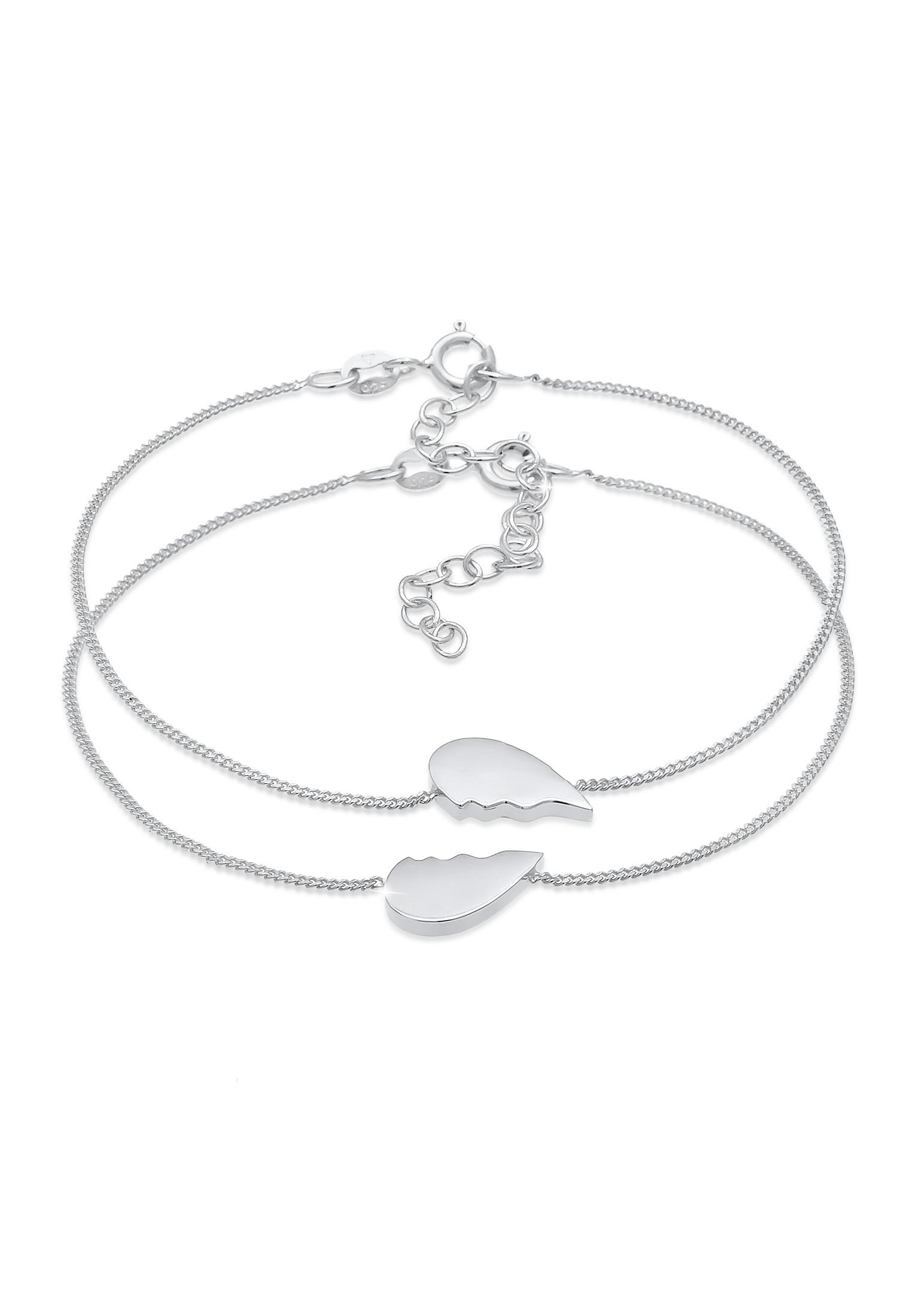 Armbandset Herz | 925er Sterling Silber