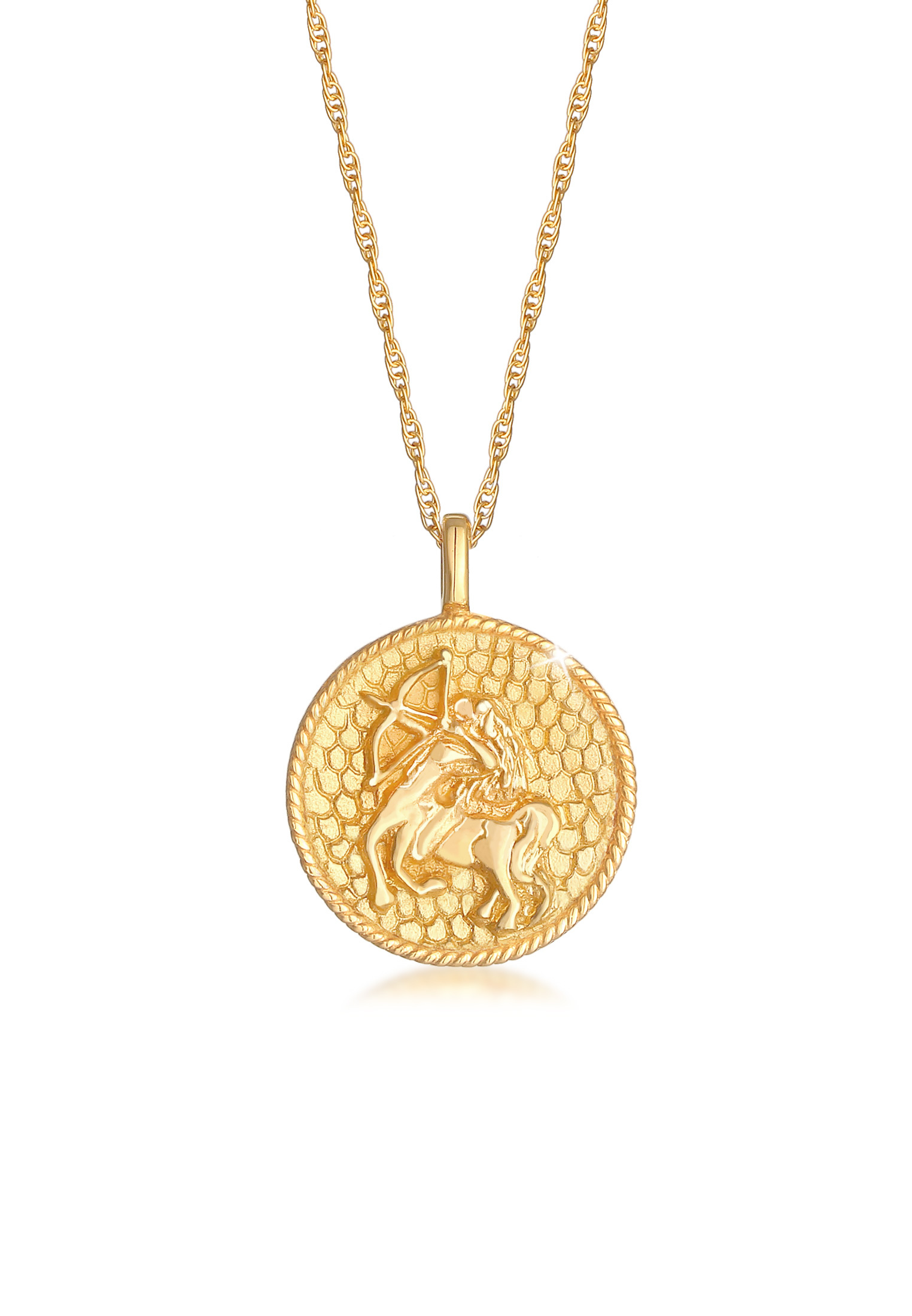 Halskette Sternzeichen   925 Sterling Silber vergoldet