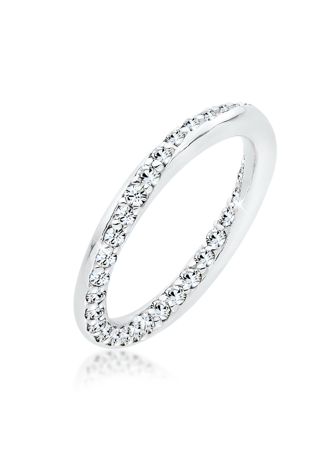 Ring   Kristall ( Weiß )   925er Sterling Silber