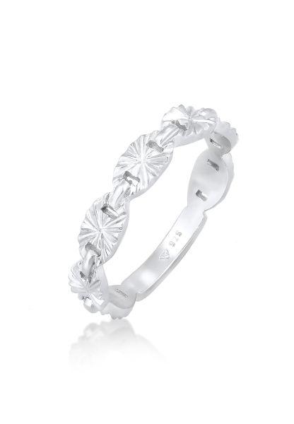 Elli Ring Bandring Plättchen Stern Look 925 Silber