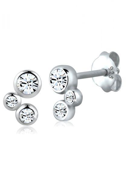Elli Ohrringe Basic Kristalle Filigran 925 Silber