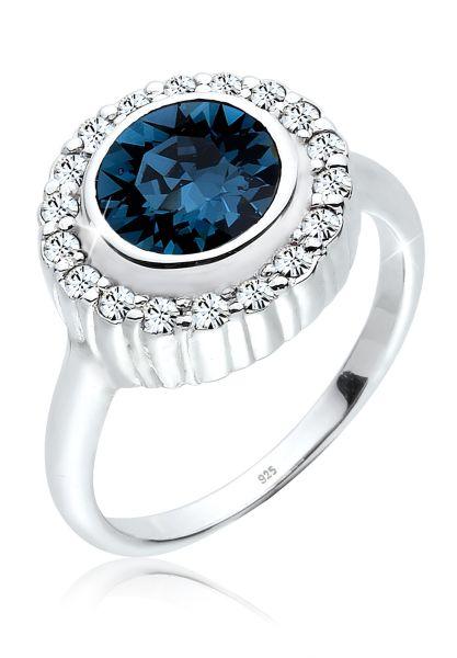 Elli Ring Cocktailring Kristalle 925er Silber