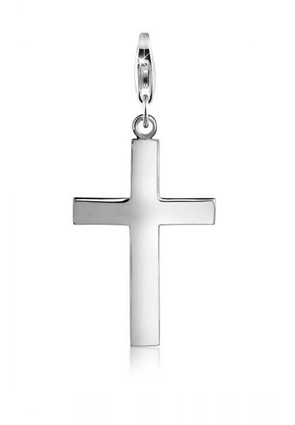 Nenalina Charm Kreuz Symbol Geo Anhänger 925 Silber
