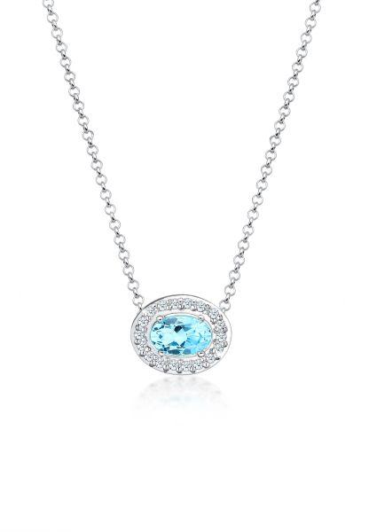 Halskette   Diamant ( Weiß, 0,09 ct )   925er Sterling Silber
