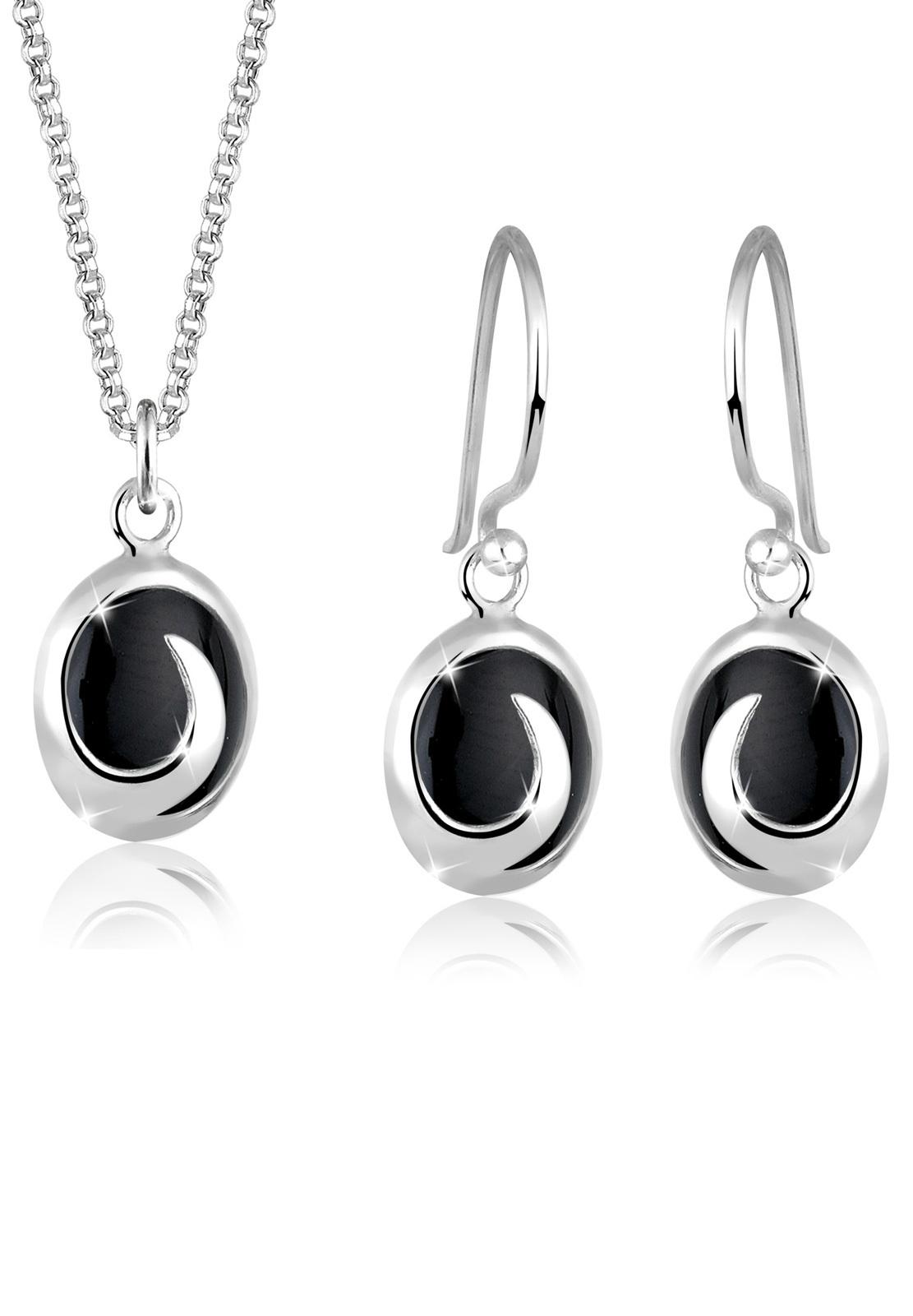 Schmuckset   Onyx ( Schwarz )   925er Sterling Silber