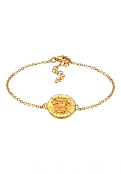 Armband Eule   925 Sterling Silber vergoldet