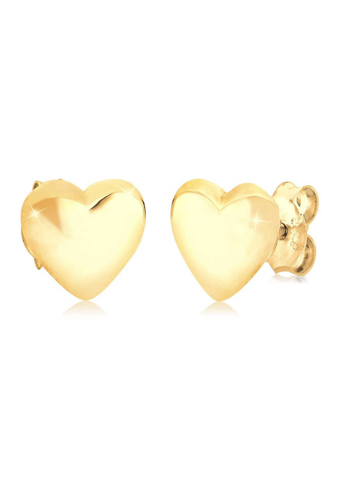 Ohrstecker Herz   925 Sterling Silber vergoldet