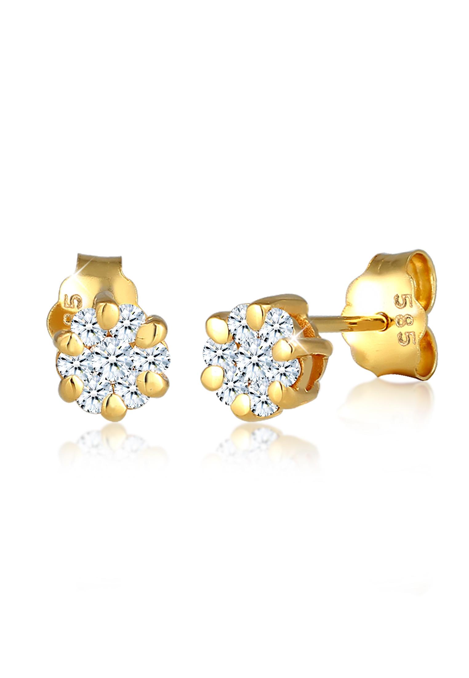 Ohrstecker | Diamant ( Weiß, 0,24 ct ) | 585 Gelbgold