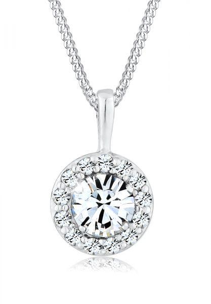 Elli Halskette Talisman Kristalle 925 Sterling Silber