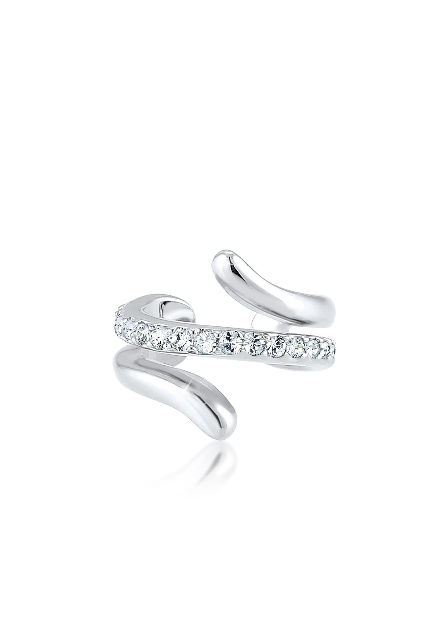 Earcuff | Kristall ( Weiß ) | 925er Sterling Silber