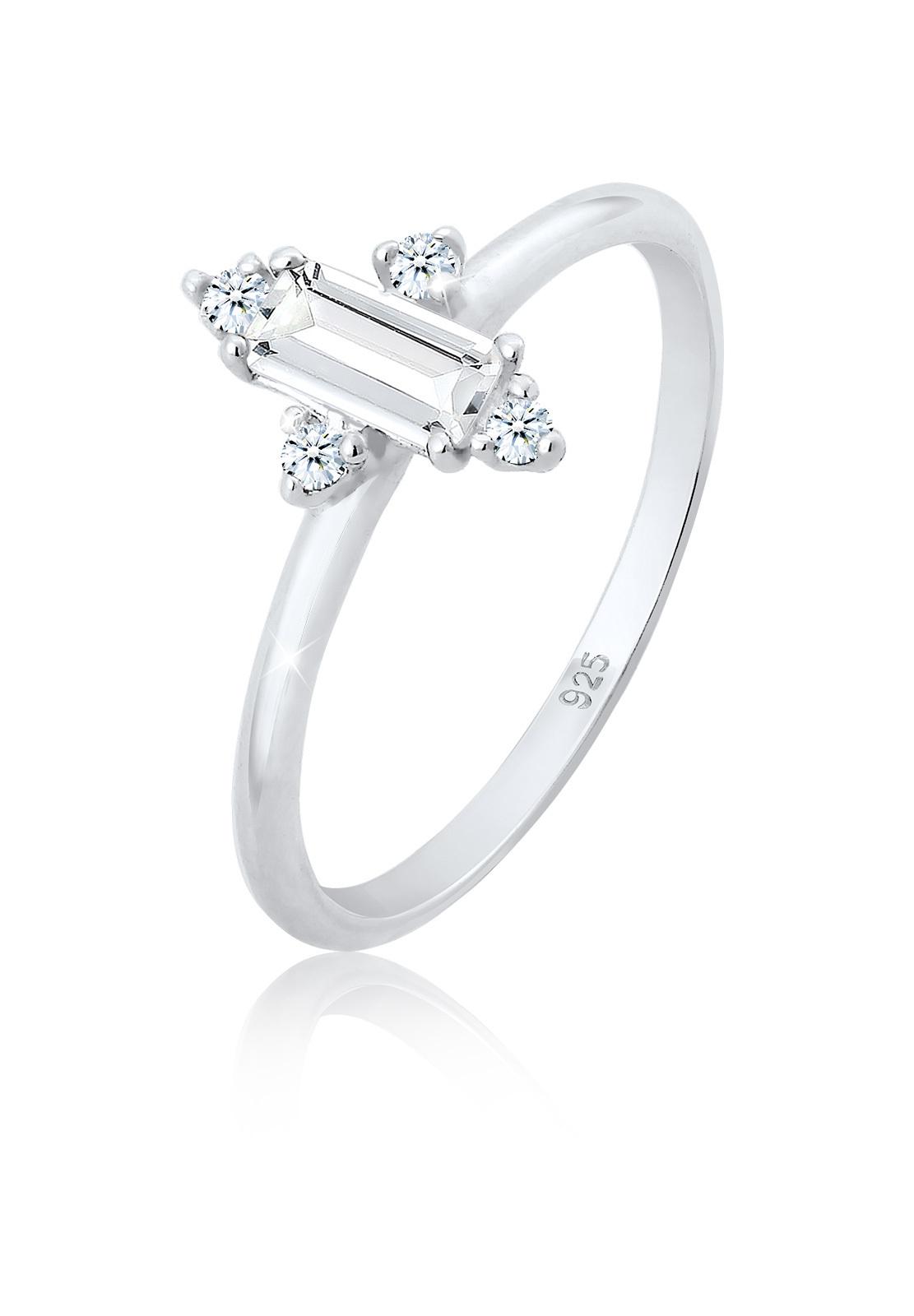 Verlobungsring   Diamant ( Weiß, 0,06 ct )   925er Sterling Silber