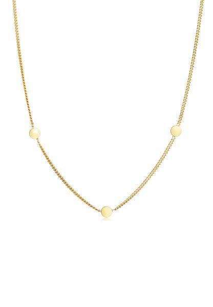 Halskette Kreis   375 Gelbgold