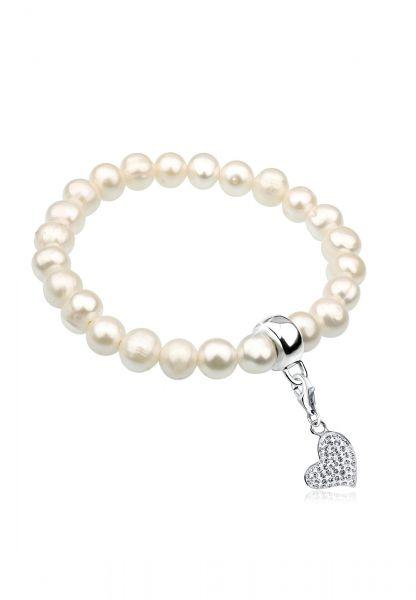 Armband Herz | Kristall ( Weiß ) | 925er Sterling Silber