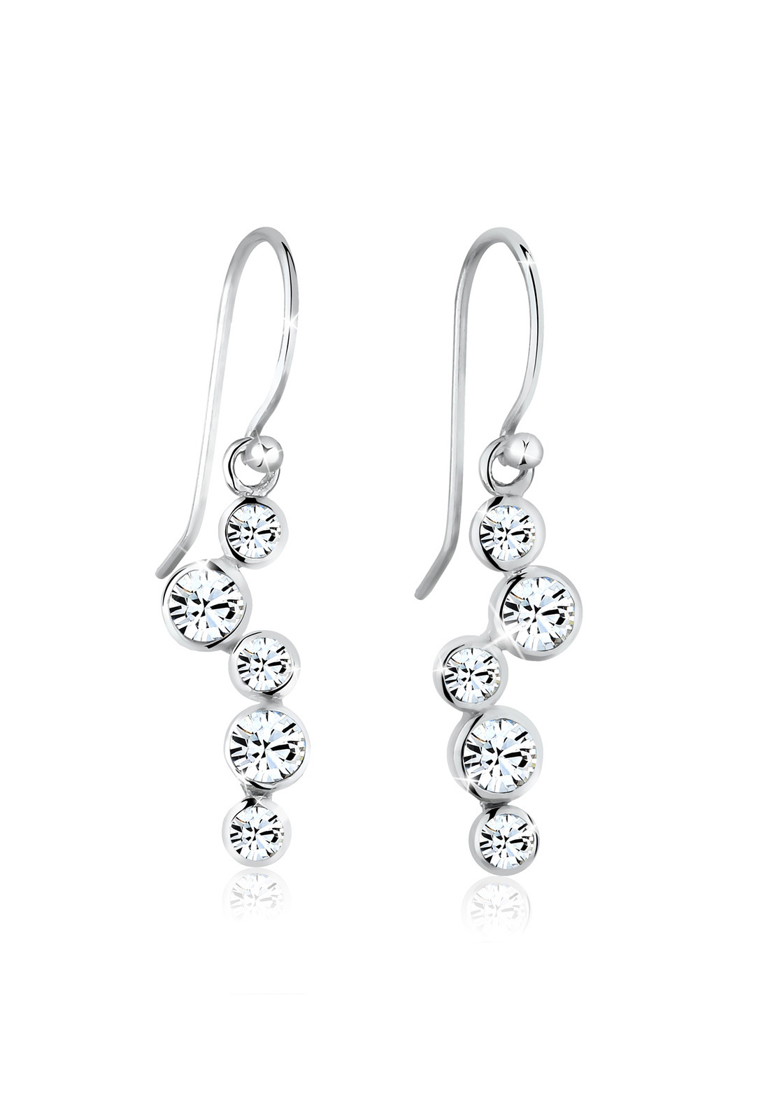 Ohrhänger | Kristall ( Weiß ) | 925er Sterling Silber