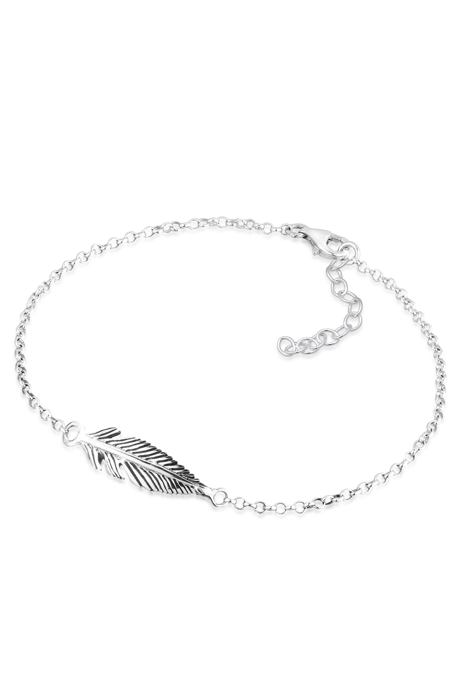 Armband Feder   925er Sterling Silber