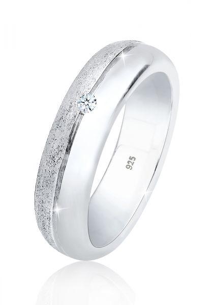 DIAMORE Ring Basic Bandring Diamant (0.03 ct.) 925 Silber