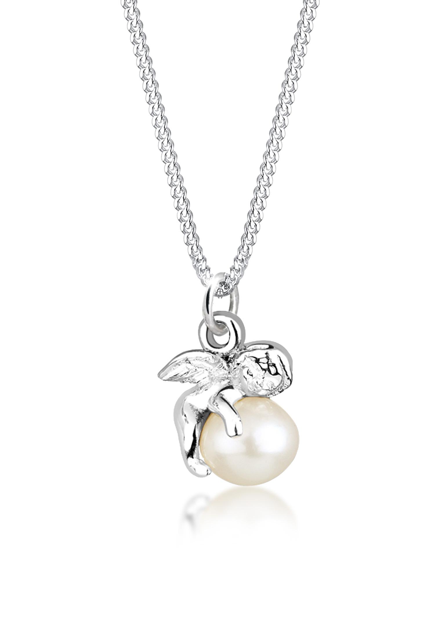 Halskette Engel | Süßwasserperle | 925er Sterling Silber