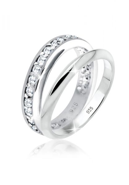 Elli Ring Bandring Set Zirkonia 925 Silber