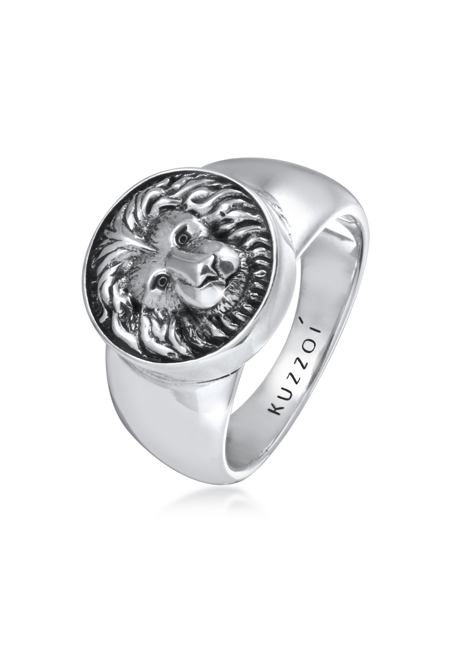 Siegelring Löwe | 925er Sterling Silber