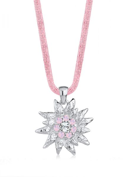 Elli Halskette Edelweiss Wiesn Kristalle 925 Silber
