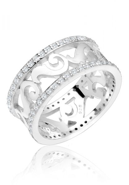 Elli PREMIUM Ring Ornament Zirkonia 925er Sterling Silber