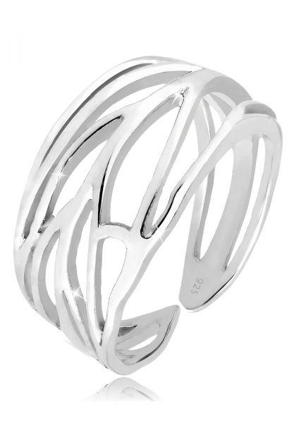Elli Ring Blatt Ornament Wickelring 925 Silber