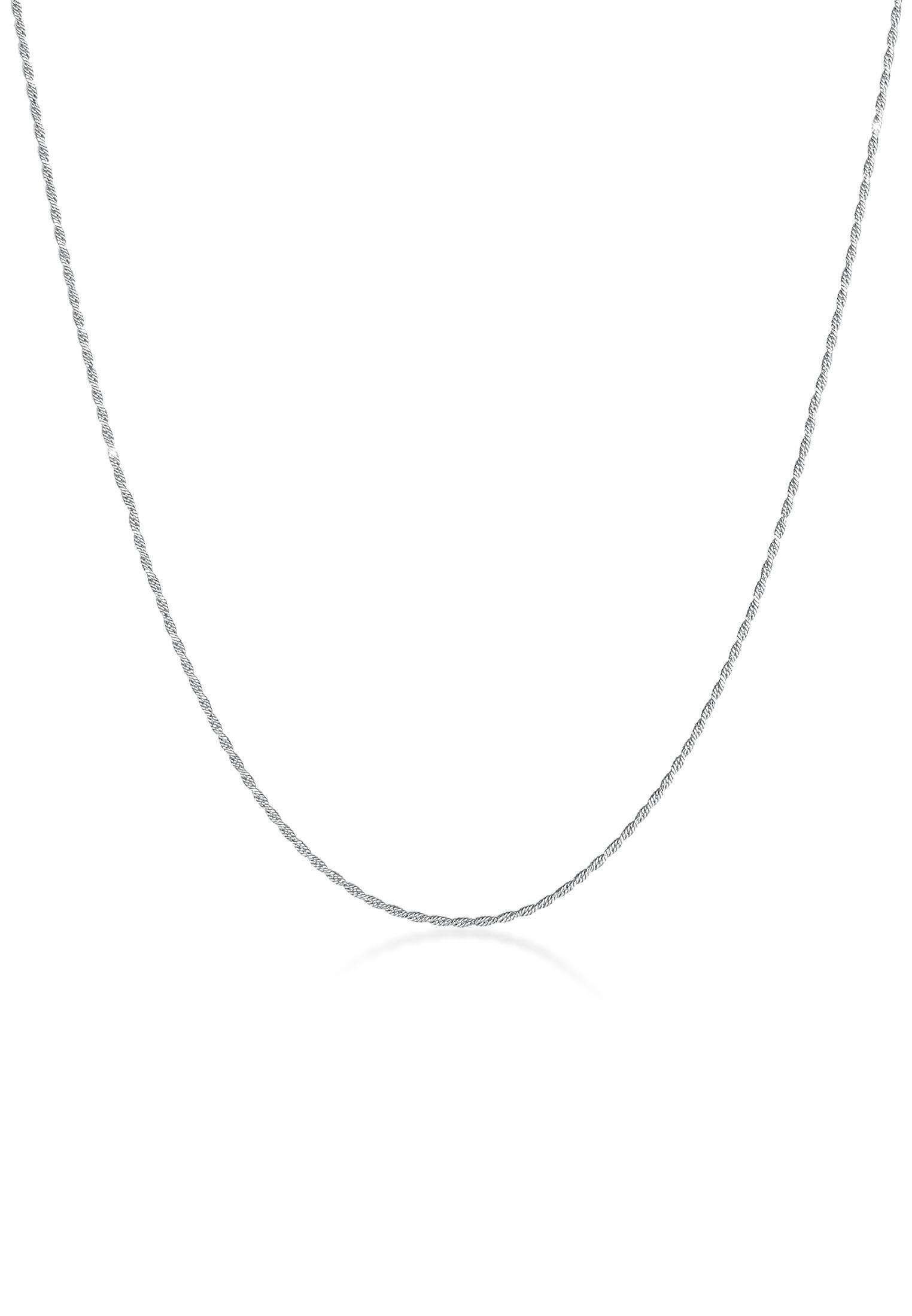 Kordel-Halskette Fein   925er Sterling Silber