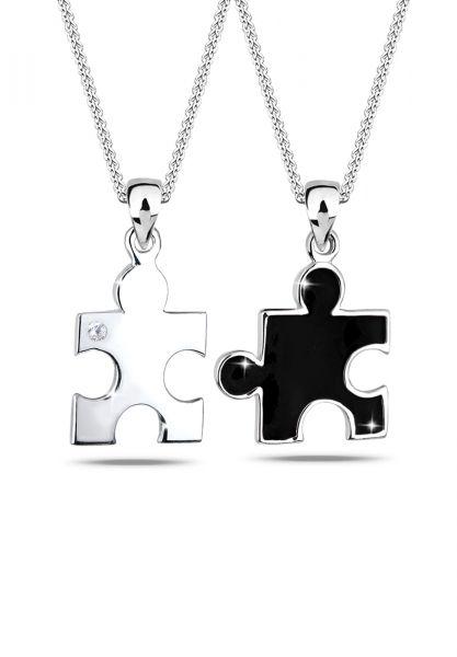 Elli Halskette Partnerketten Puzzle Zirkonia 925 Sterling Silber