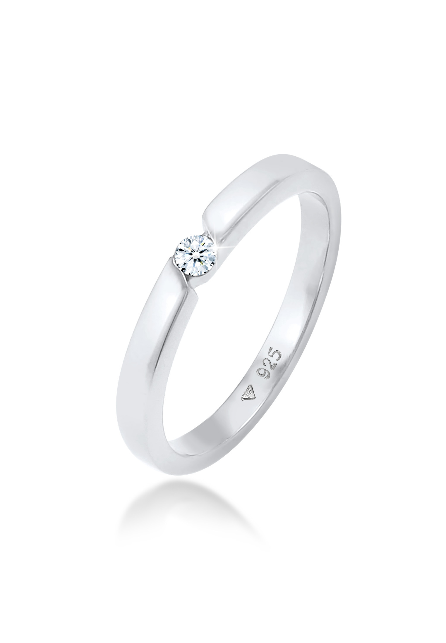 Ring   Diamant ( Weiß, 0,06 ct )   925er Sterling Silber