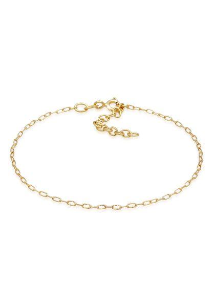 Elli Armband Glieder Oval Fein Zart Basic 925 Silber