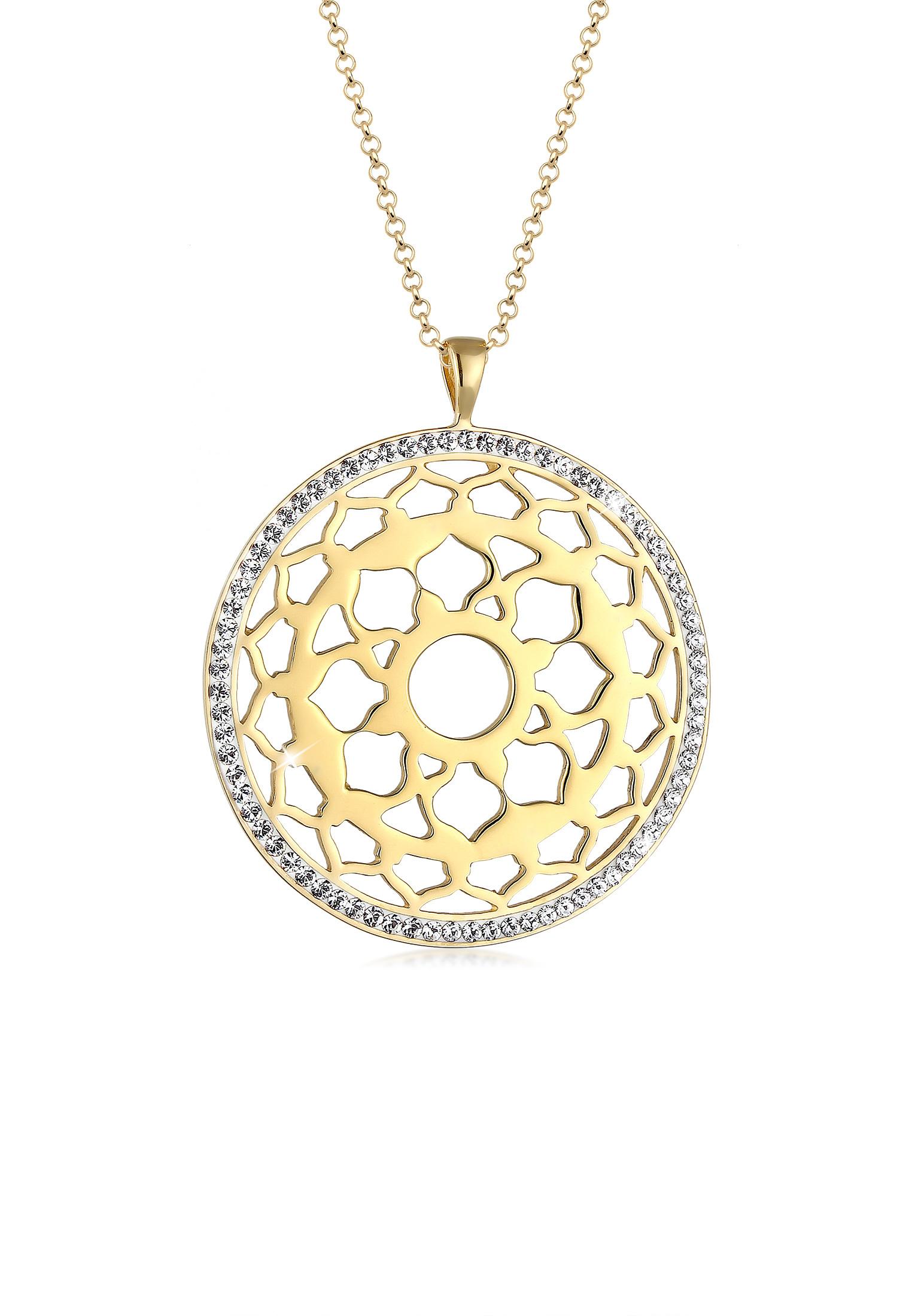 Lange Halskette Chakra | Kristall ( Weiß ) | 925er Sterling Silber