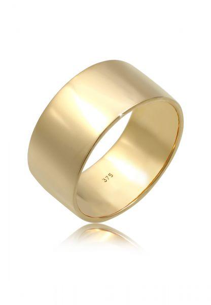 Elli PREMIUM Ring Basic Bandring 375 Gelbgold