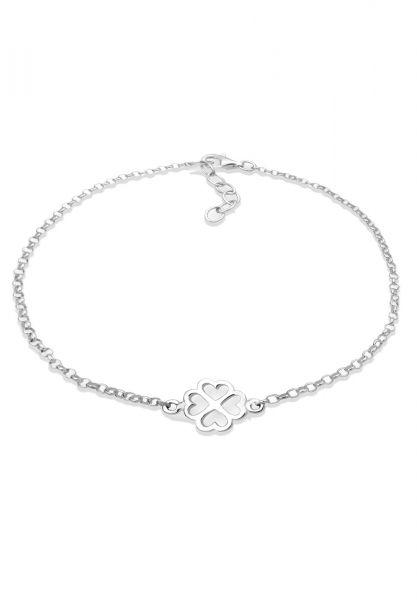 Armband Kleeblatt | 925er Sterling Silber