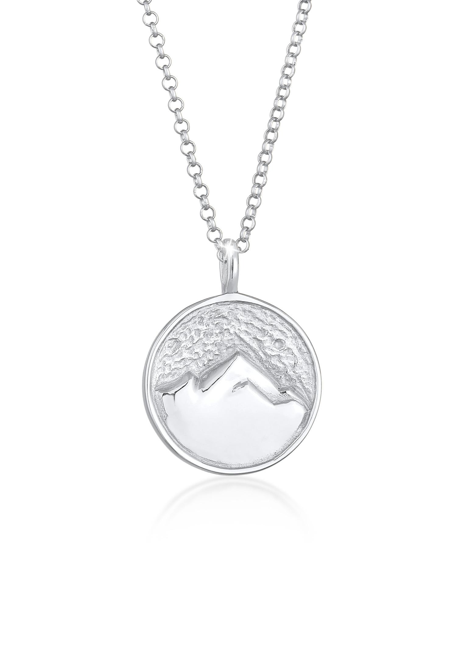 Halskette Münze Berge | 925er Sterling Silber